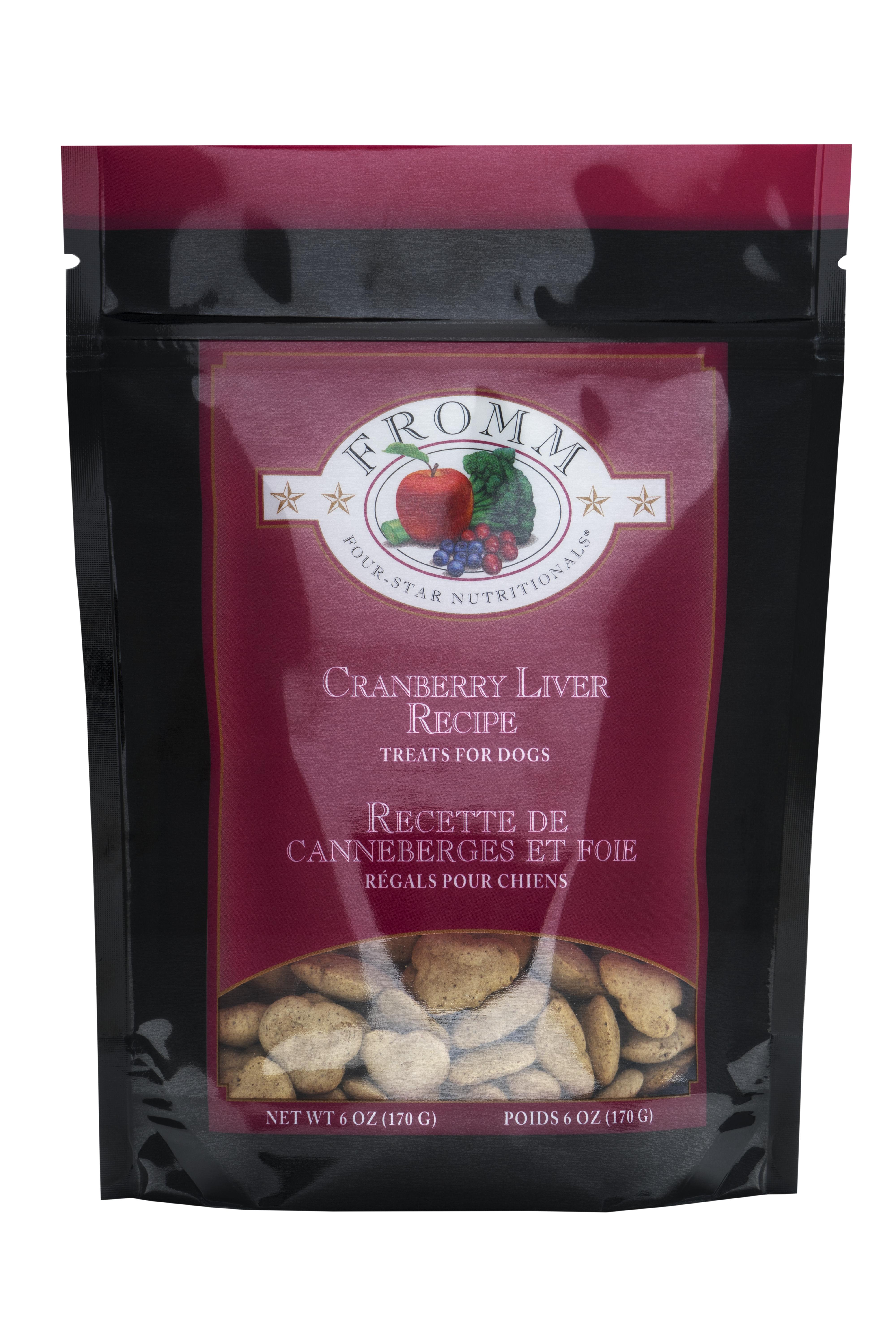 Fromm Four-Star Nutritionals Cranberry Liver Dog Treats, 6-oz