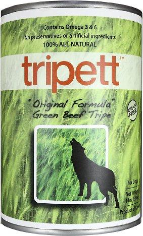 PetKind Tripett Original Formula Green Beef Tripe Grain-Free Canned Dog Food, 13-oz