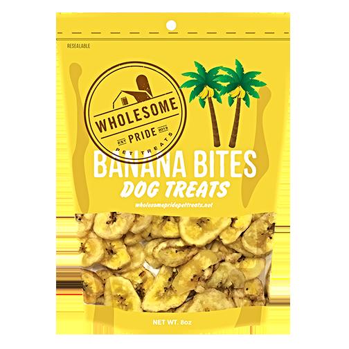 Wholesome Pride Banana Bites Dog Treats, 8-oz