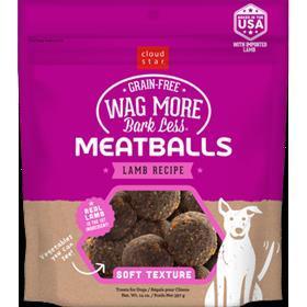 Cloud Star Wag More Bark Less Meatballs Lamb 14oz (Size: 14-oz) Image