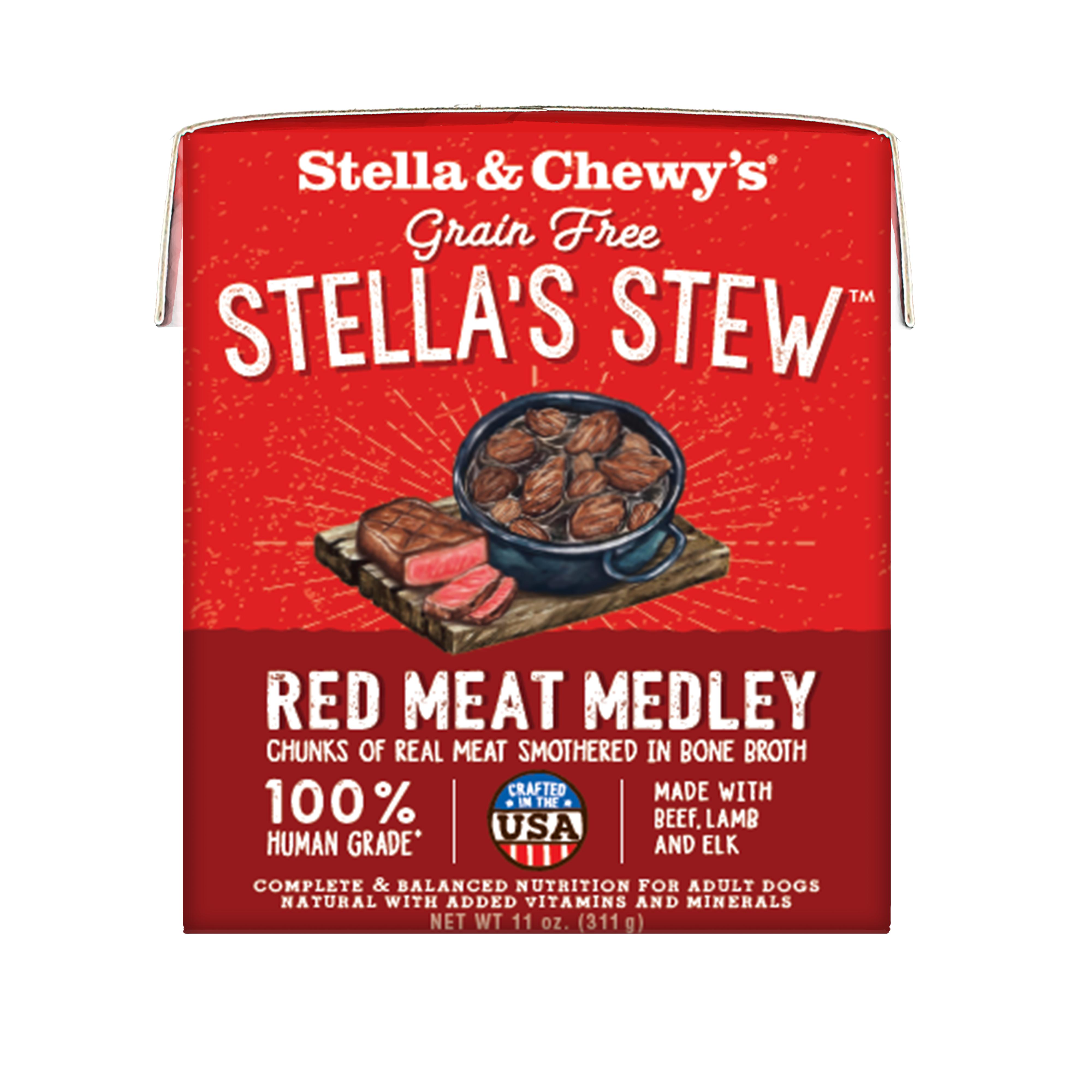 Stella & Chewy's Stella's Stew Red Meat Medley Wet Dog Food, 11-oz