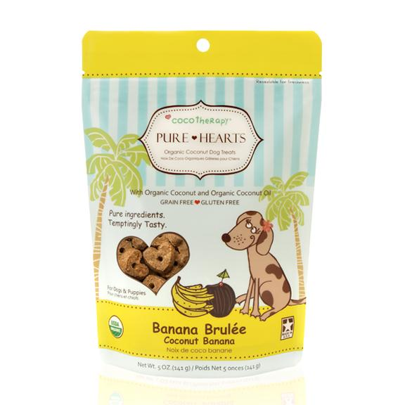 Coco Therapy Pure Hearts Coconut Cookies Banana Brulée, 5oz bag