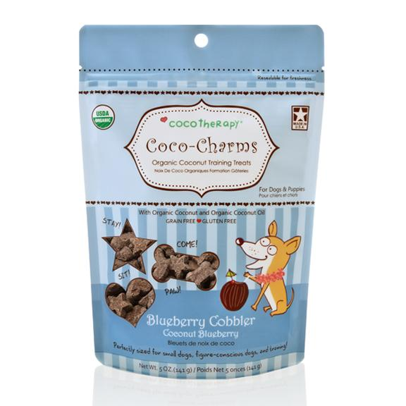 Coco Therapy Coco-Charms Training Treats Blueberry Cobbler, 5oz bag