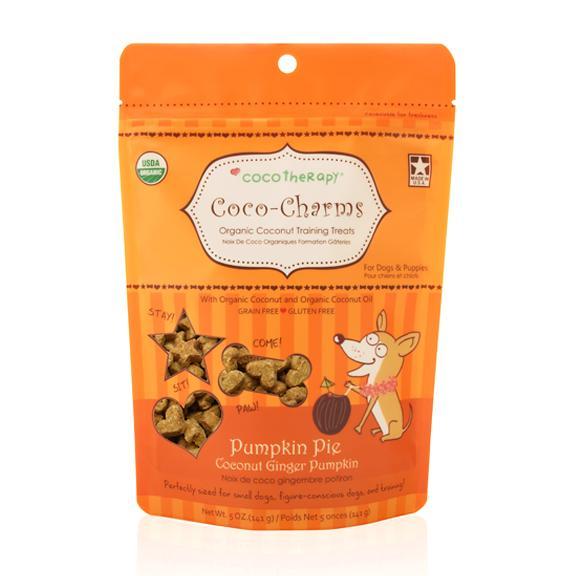 Coco Therapy Coco-Charms Training Treats Pumpkin Pie, 5oz bag