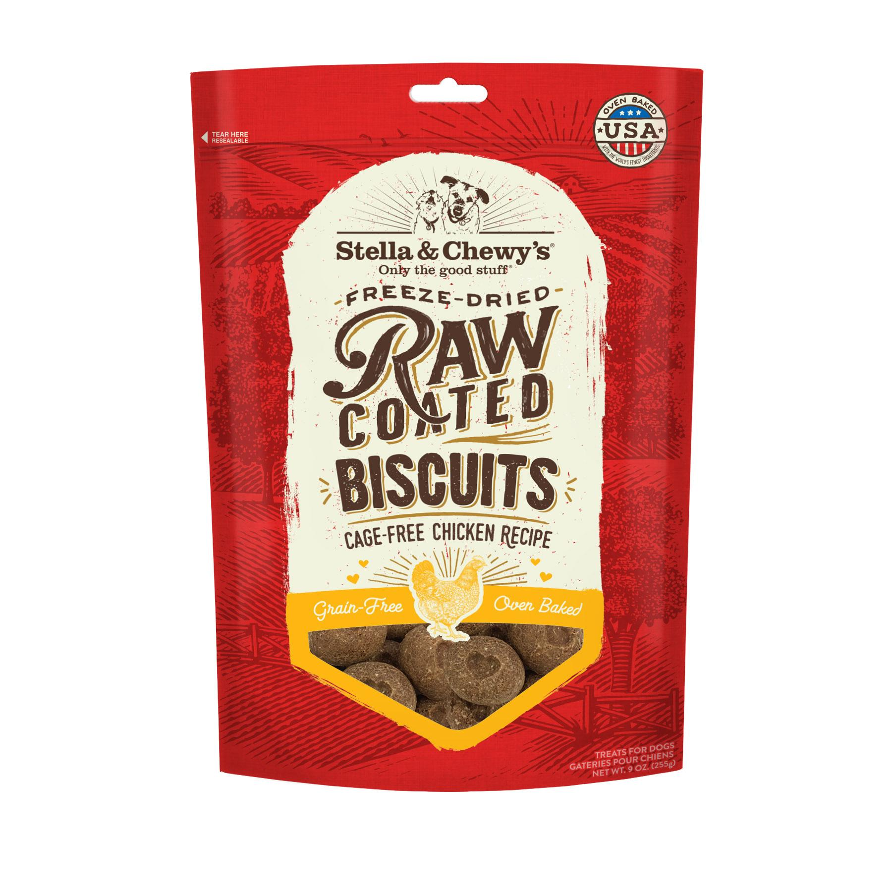 Stella & Chewy's Raw Coated Biscuits Cage-Free Chicken Recipe Dog Treats, 9-oz (Size: 9-oz) Image