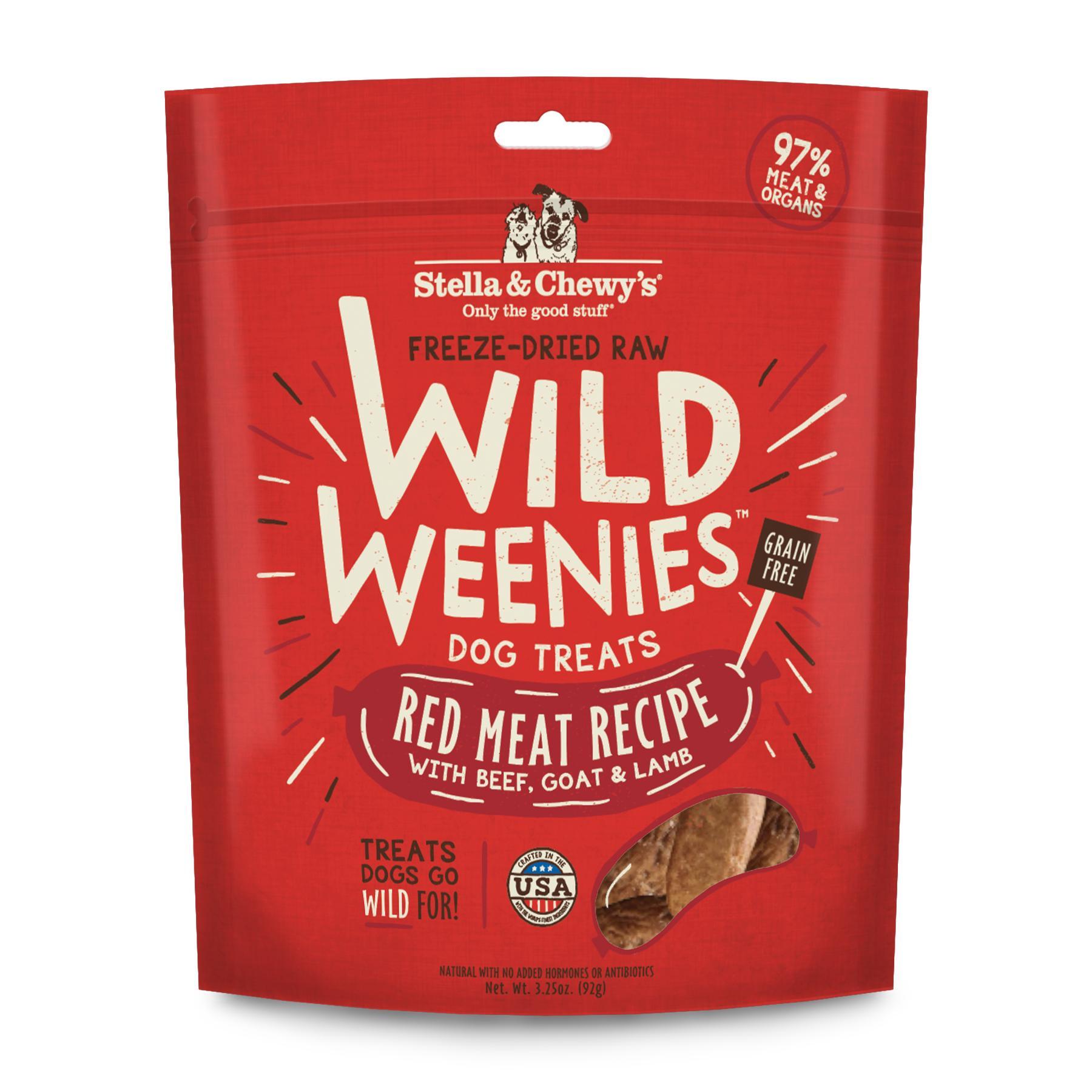 Stella & Chewy's Wild Weenies Red Meat Recipe Freeze-Dried Dog Treats, 3.25-oz (Size: 3.25-oz) Image