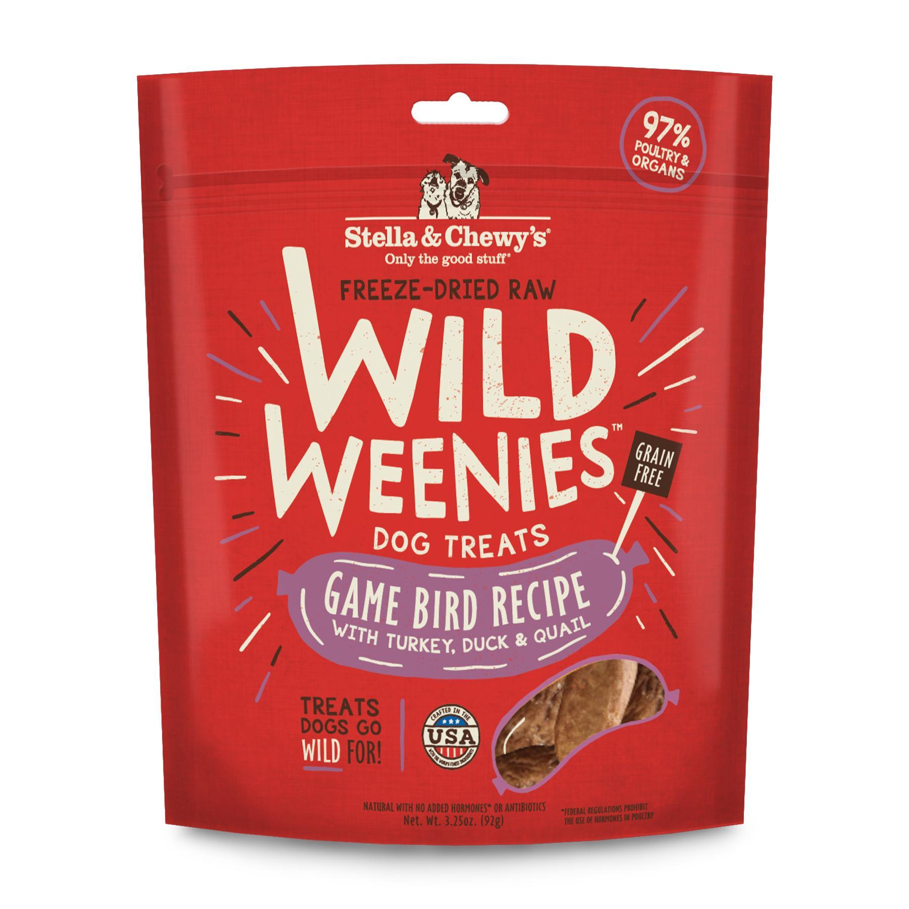 Stella & Chewy's Wild Weenies Game Bird Recipe Freeze-Dried Dog Treats, 3.25-oz (Size: 3.25-oz) Image