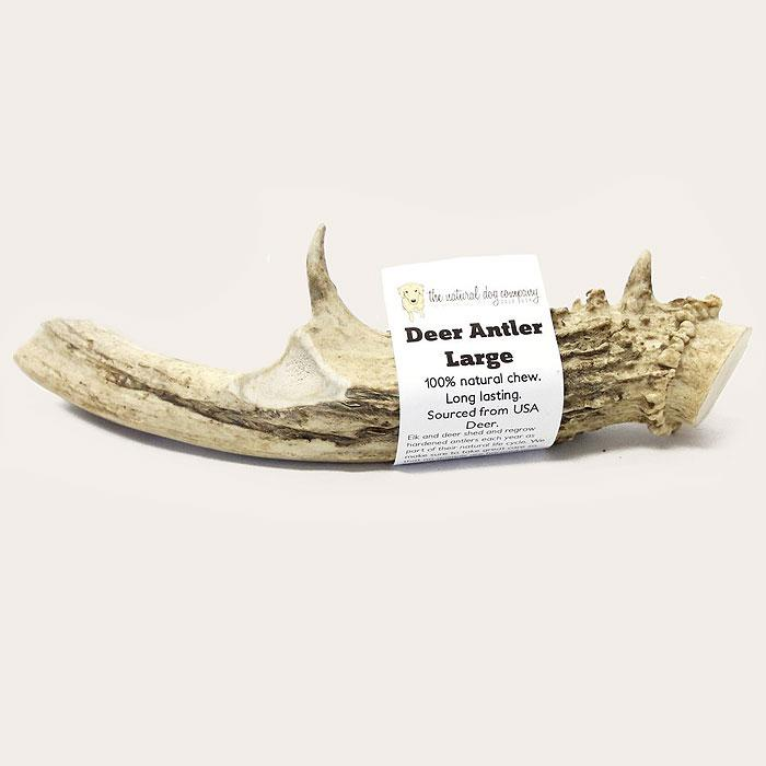 The Natural Dog Company Deer Antler Chew Dog Treats, Large