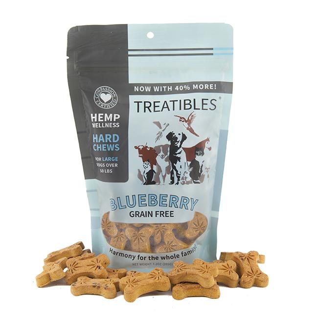 Treatibles Large Blueberry 4 Mg Grain Free Chews, 8.5-oz (4mg)
