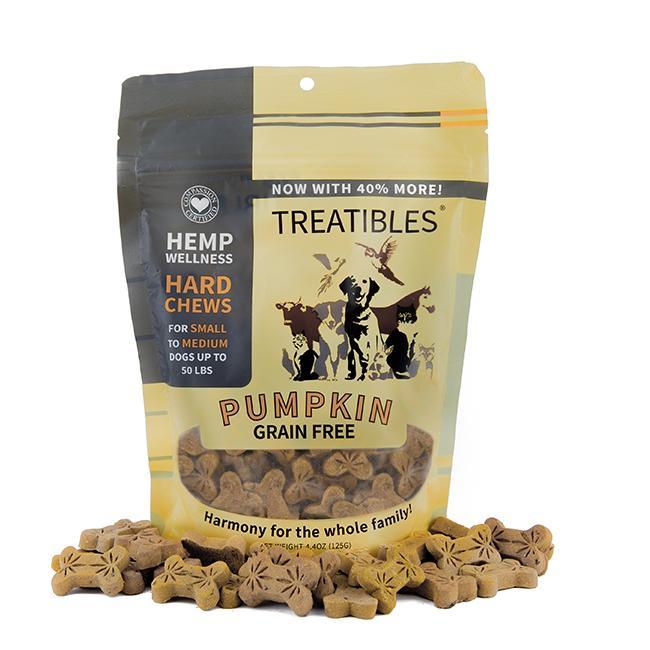 Treatibles Small Pumpkin 1 Mg Grain Free Chews, 6-oz (1mg)