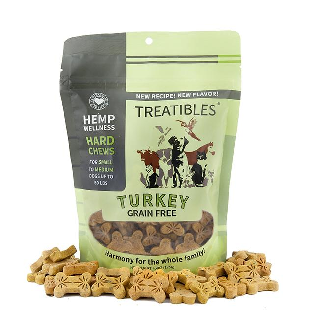 Treatibles Small Turkey 1 Mg Grain Free Chews, 6.3-oz (1mg)