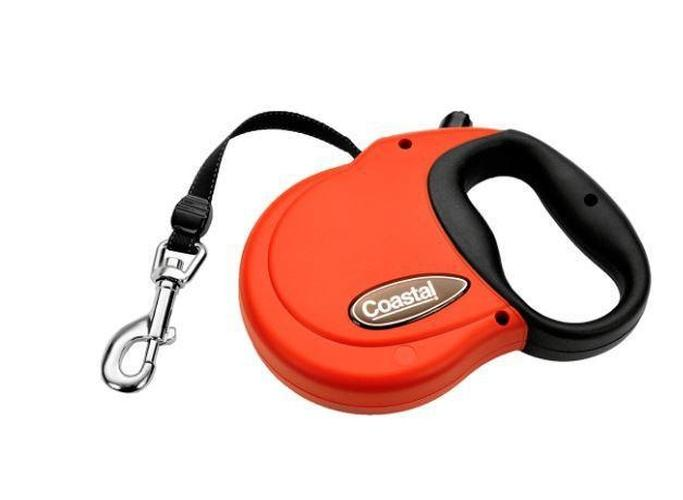 Coastal Power Walker Retractable Dog Leash Red, Large up to 110-lbs