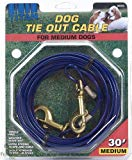 Titan Medium Dog Tie Out Cable, 30-ft
