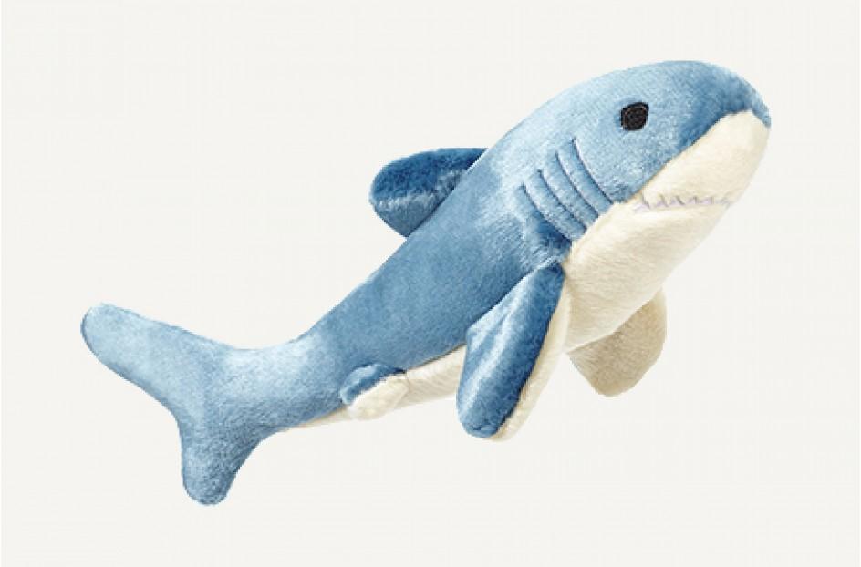 Fluff & Tuff Tank Shark Dog Toy, 12-in