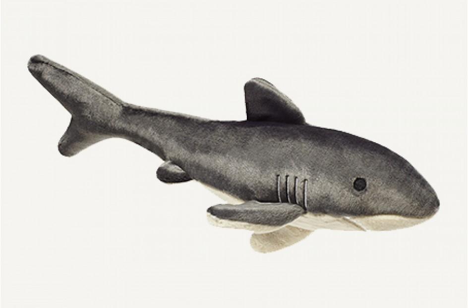 Fluff & Tuff Mac The Shark Dog Toy, 18-in