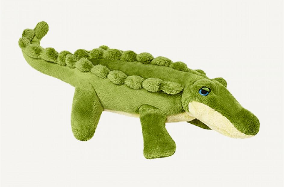 Fluff & Tuff Savannah Gatorbaby Dog Toy, 7-in