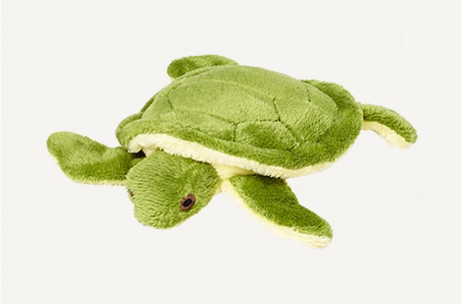 Fluff & Tuff Shelly Turtle Dog Toy, 4-in