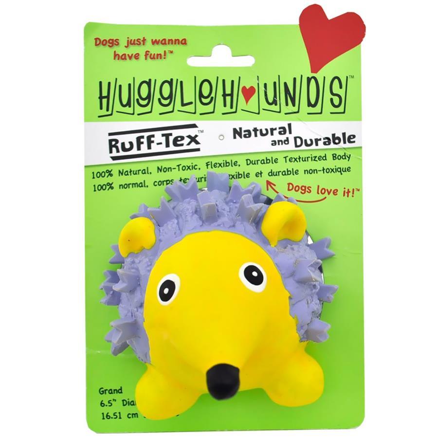 HuggleHounds Ruff-Tex Violet the Hedgehog Dog Toy, Large (Size: Large) Image
