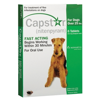 Capstar Flea Treatment For Dogs Over 25 lbs