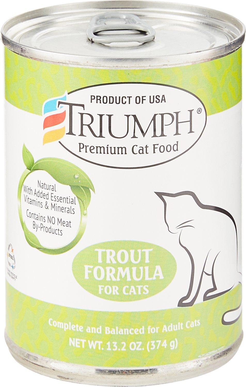 Triumph Trout Formula Canned Cat Food, 13.2-oz