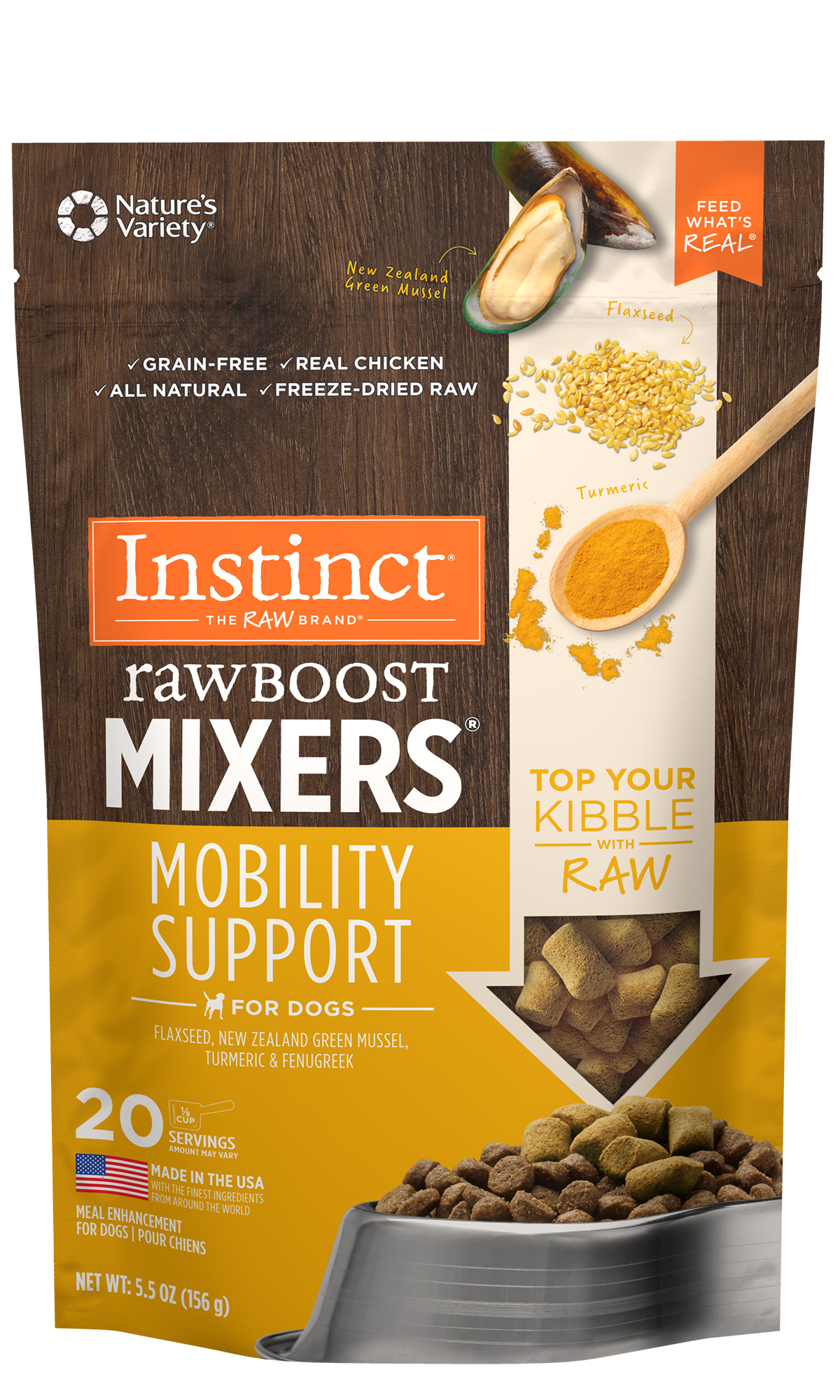 Instinct by Nature's Variety Raw Boost Mixers Mobility Support, 5.5-oz
