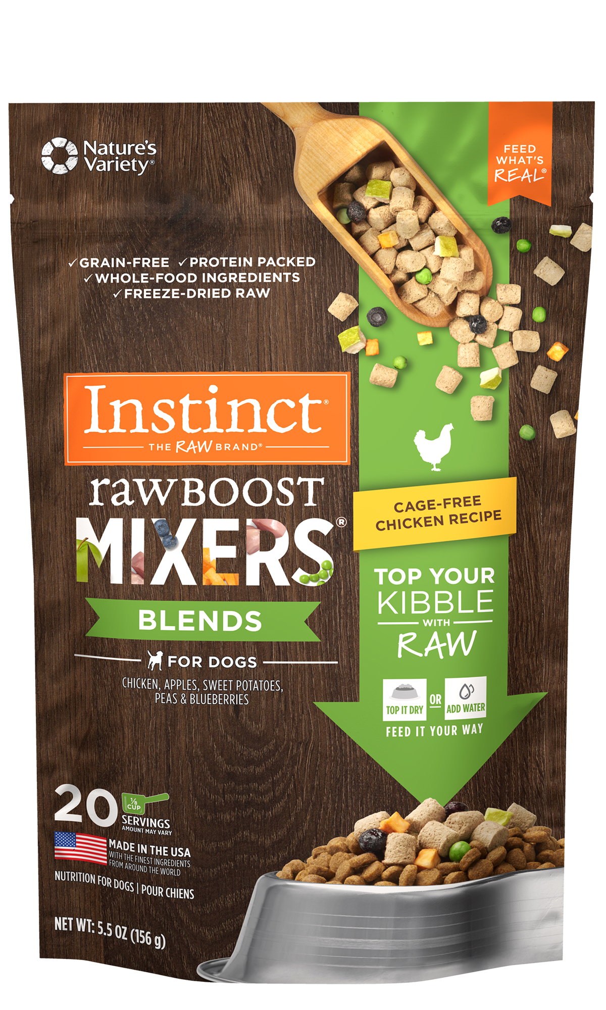 Instinct by Nature's Variety Raw Boost Mixers Cage-Free Chicken Recipe, 5.5-oz
