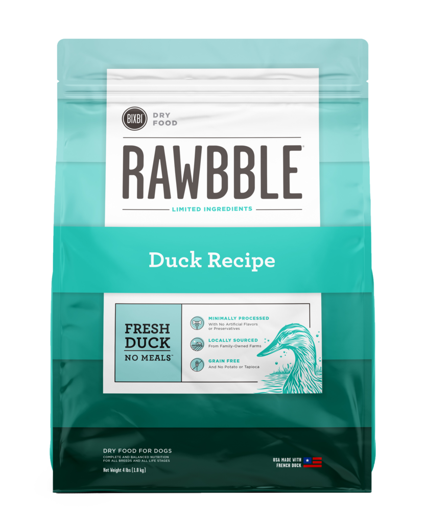 Bixbi Rawbble Duck Recipe Dry Dog Food, 4-lb