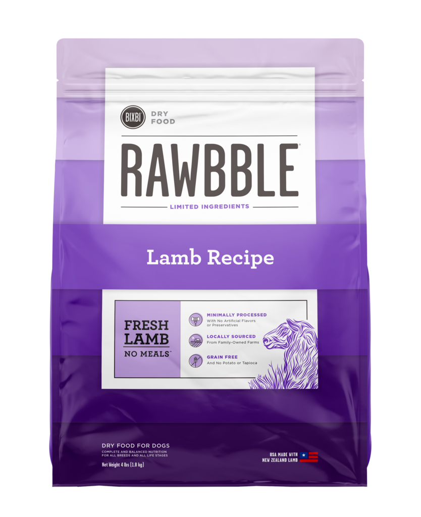Bixbi Rawbble Lamb Recipe Dry Dog Food, 4-lb