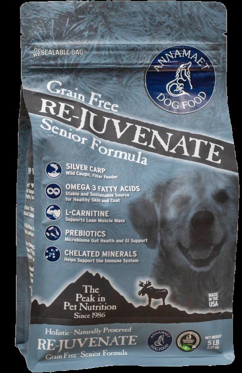Annamaet Re-Juvenate Senior Formula Grain-Free Dry Dog Food, 5-lb