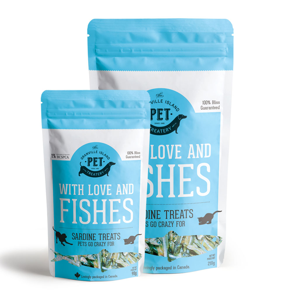 Granville Island Pet With Love and Fishes Sardines, 90-grams