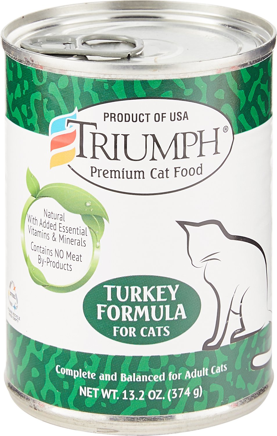 Triumph Turkey Formula Canned Cat Food, 13.2-oz