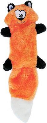 ZippyPaws Zingy No Stuffing 3 Squeaker Plush Dog Toy, Fox