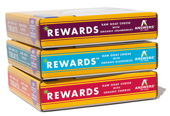 Answers Rewards Raw Goat Cheese with Organic Cranberries Grain-Free Dog & Cat Treats, 8-oz