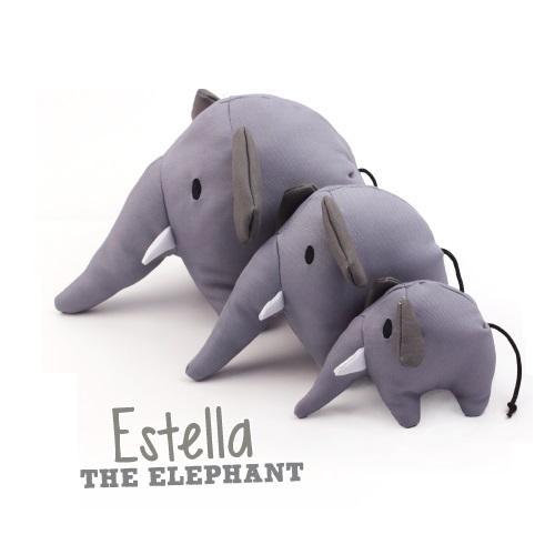 Beco Plush Elephant Dog Toy, Medium