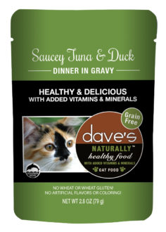 Dave's Cat Food Naturally Healthy Cat Pouch Tuna & Duck 2.8-oz