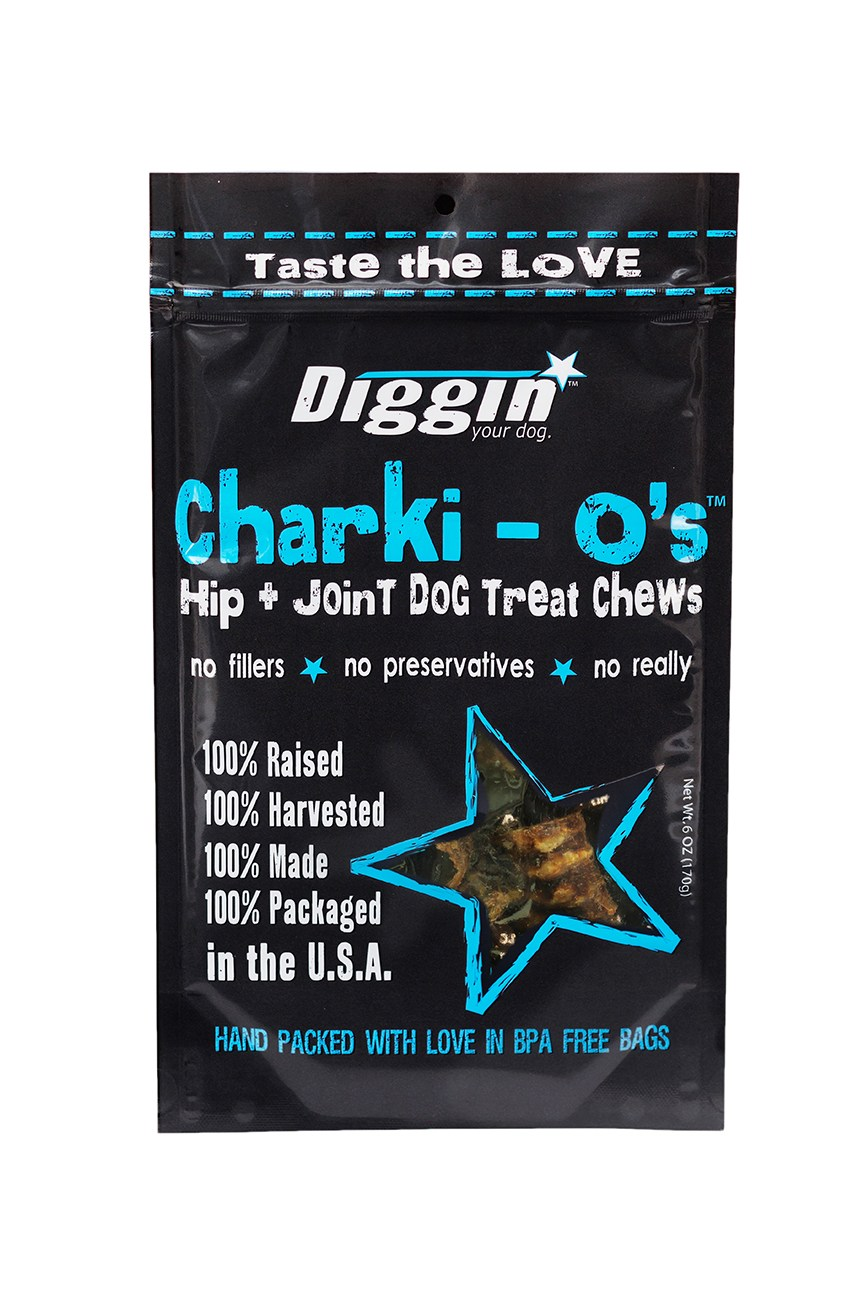 Diggin' Your Dog Charki-O Chew, 6-oz Bag