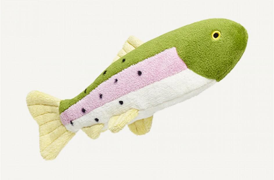 Fluff & Tuff Burt Lake Trout Dog Toy, Small