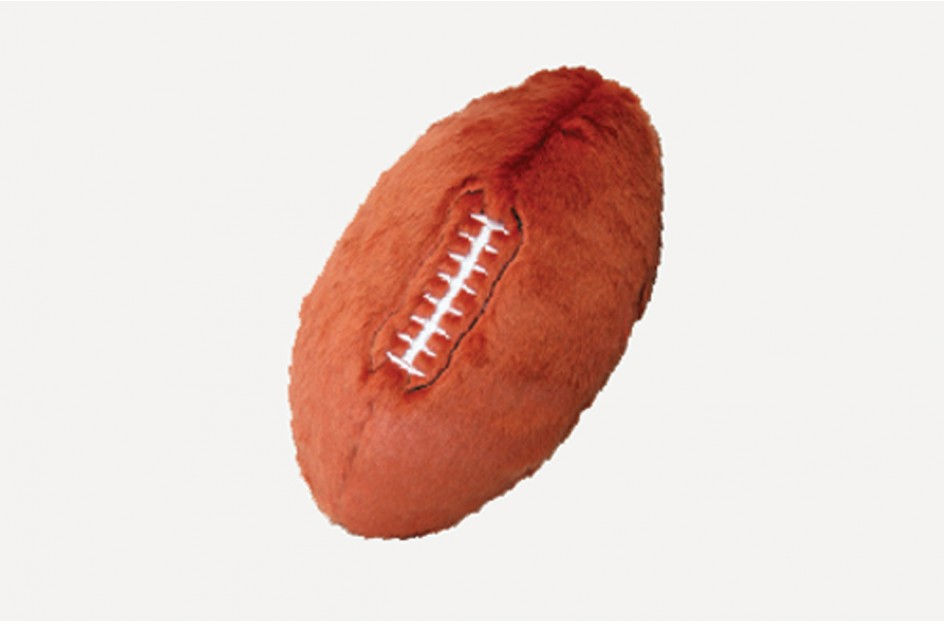Fluff & Tuff Football Dog Toy, Medium (Size: Medium) Image