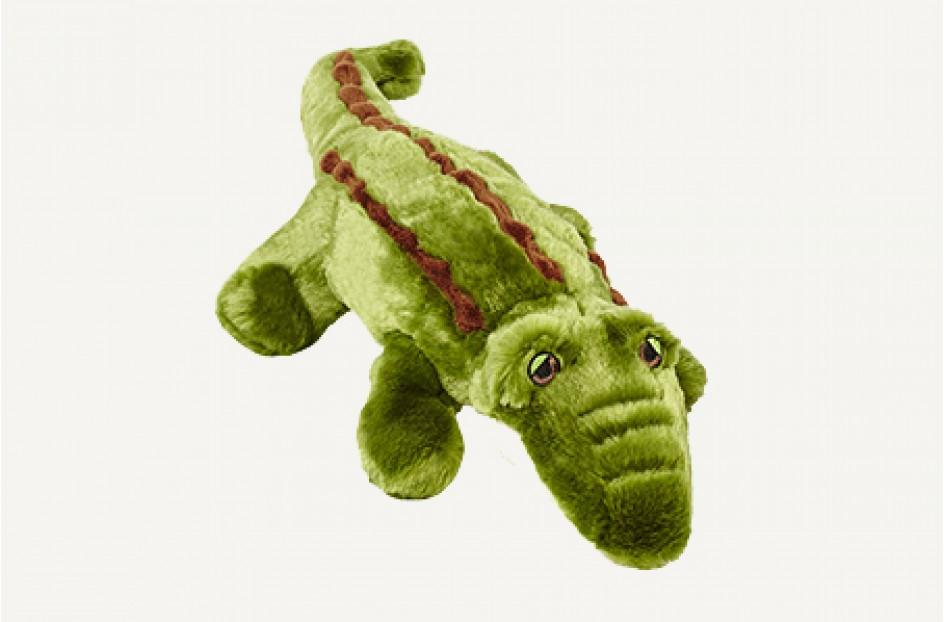Fluff & Tuff Georgia Gator Dog Toy, Medium