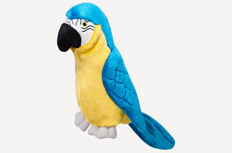 Fluff & Tuff Jimmy Parrot Dog Toy, Large