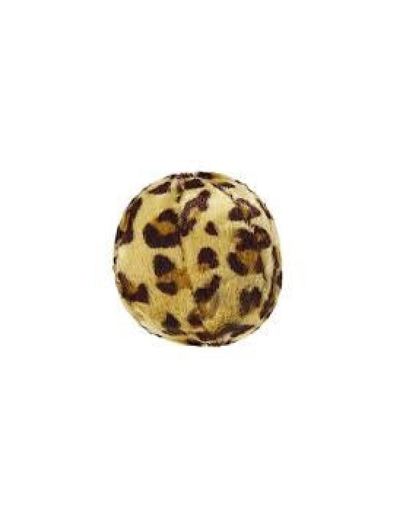 Fluff & Tuff Leopard Ball Plush Dog Toy, Small