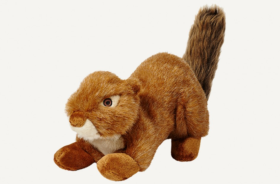 Fluff & Tuff Red Squirrel Dog Toy, Large