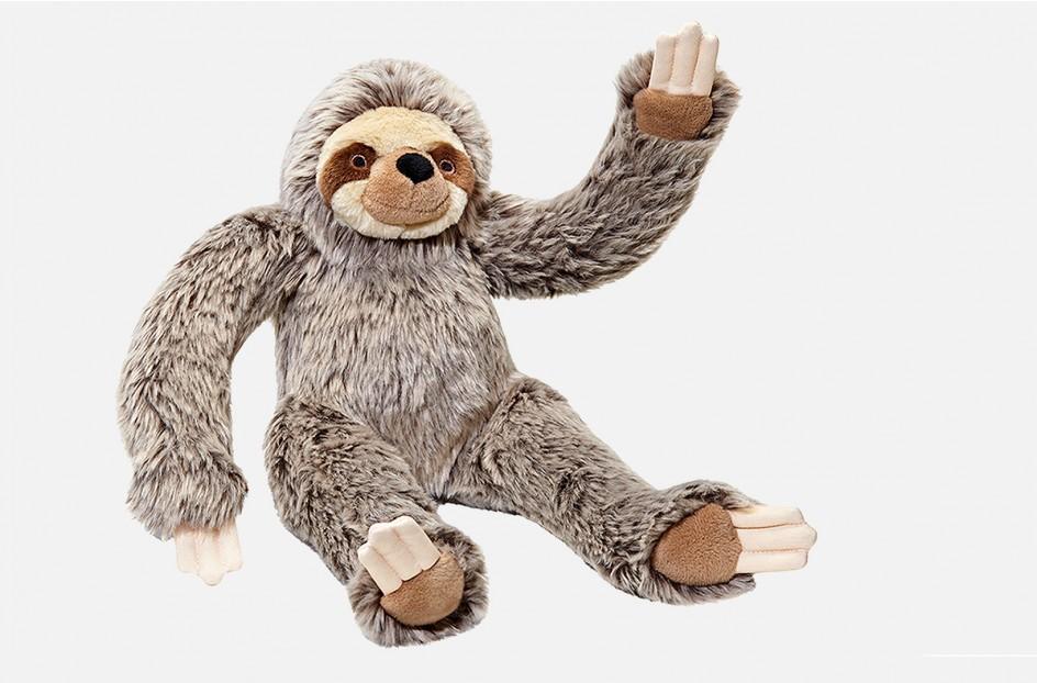 Fluff & Tuff Tico Sloth Dog Toy, Large