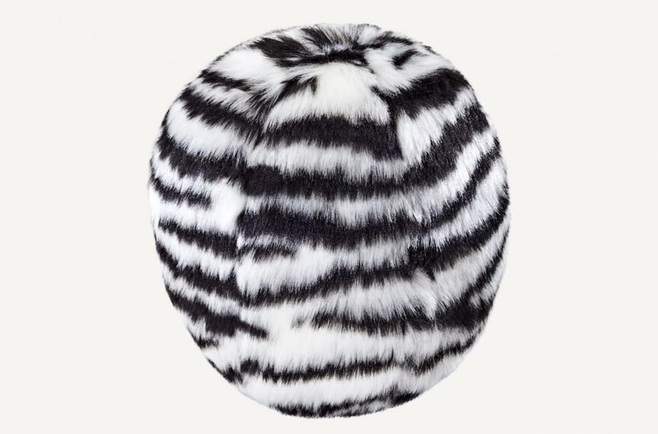 Fluff & Tuff Zebra Ball Dog Toy, Medium