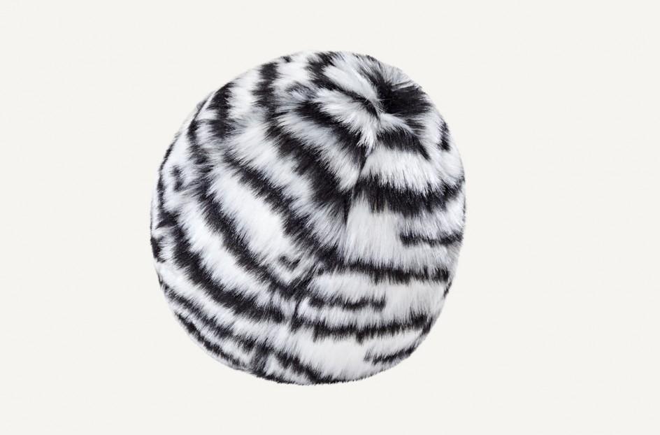 Fluff & Tuff Zebra Ball Dog Toy, Small
