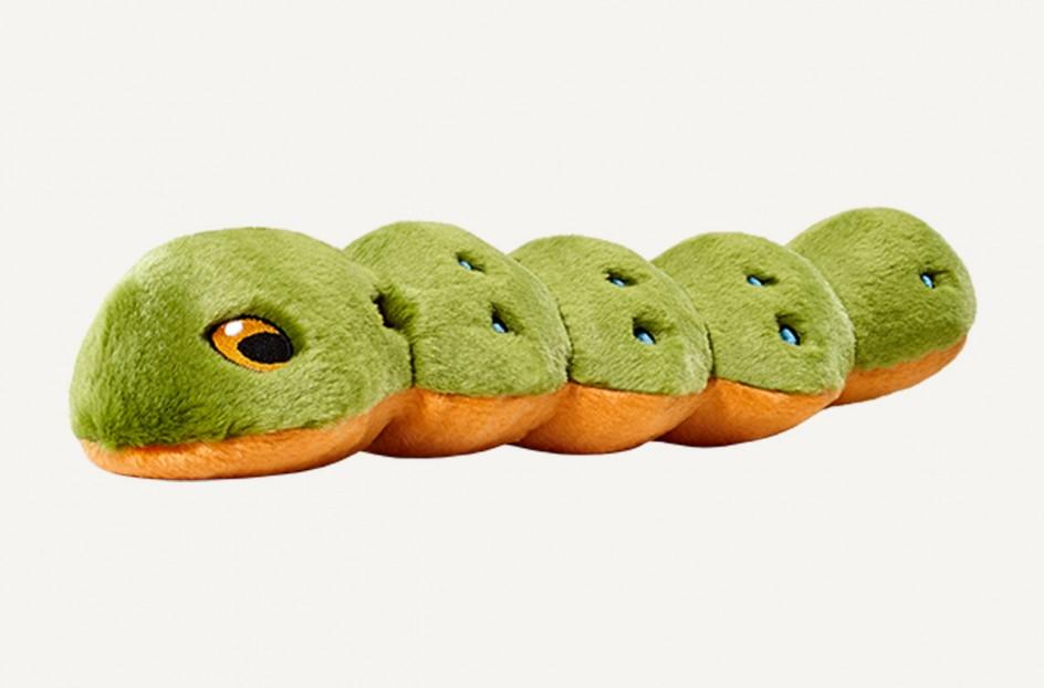 Fluff & Tuff Katie Caterpillar Dog Toy, Large