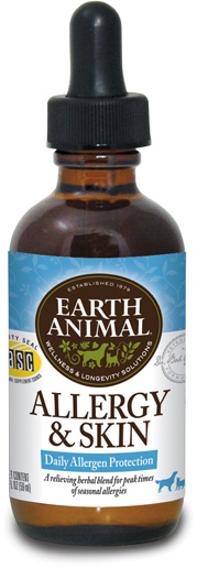 Earth Animal Allergy & Skin Supplement, 2-oz (Size: 2-oz) Image