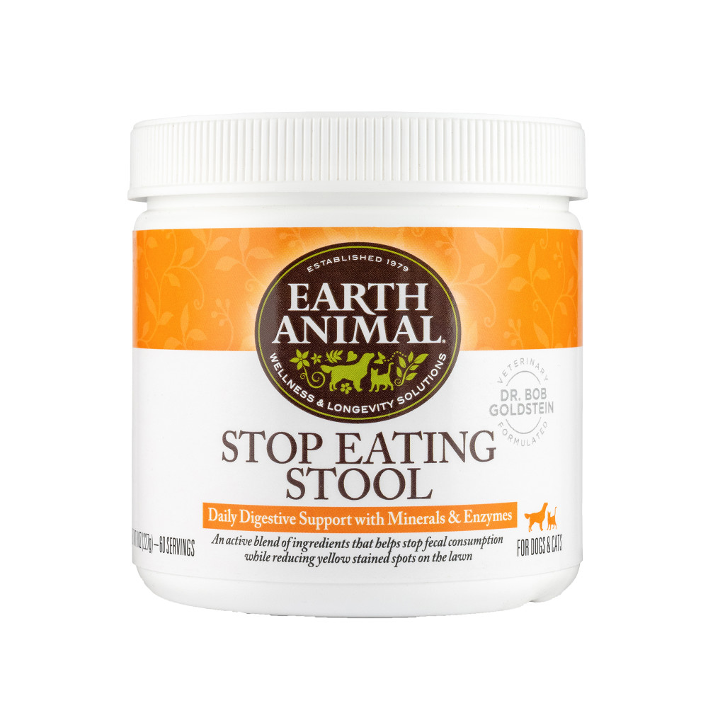 Earth Animal Stop Eating Stool Nutritional Supplement, 8-oz (Size: 8-oz) Image