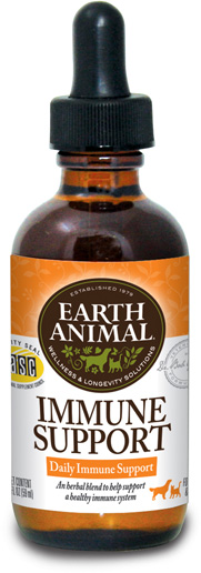 Earth Animal Immune Support Supplement, 2-oz (Size: 2-oz) Image