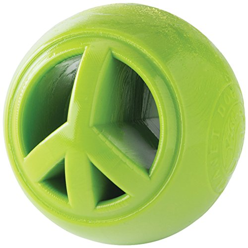 Planet Dog Orbee Tuff Nook Peace Dog Toy, 2.5-inch